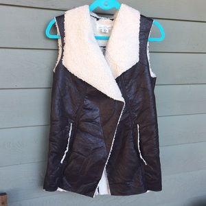 Faux Sheepskin Vest